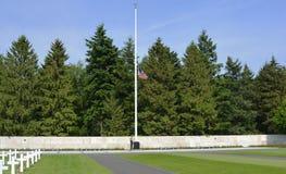 Στρατιωτικό νεκροταφείο Henri-Chapelle Βέλγιο ημέρας μνήμης Στοκ εικόνα με δικαίωμα ελεύθερης χρήσης