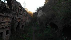 Στρατιωτικό οχυρό που εισβάλλεται με τα δέντρα απόθεμα βίντεο