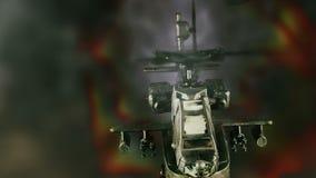 Στρατιωτικό πολεμικό σκάφος που πετά μπροστά από την έκρηξη απεικόνιση αποθεμάτων