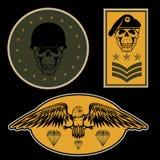 στρατιωτικό πρότυπο σχεδίου εμβλημάτων καθορισμένο διανυσματικό Στοκ εικόνες με δικαίωμα ελεύθερης χρήσης