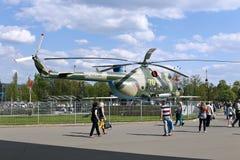Στρατιωτικό ρωσικό ελικόπτερο mi-8 μάχης Στοκ φωτογραφίες με δικαίωμα ελεύθερης χρήσης
