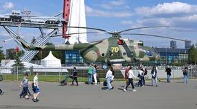 Στρατιωτικό ρωσικό ελικόπτερο mi-8 μάχης Στοκ Εικόνα