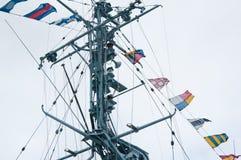 στρατιωτικό σκάφος ιστών Στοκ φωτογραφία με δικαίωμα ελεύθερης χρήσης