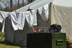 Στρατιωτικό στρατόπεδο από τον παγκόσμιο πόλεμο 2 Στοκ φωτογραφίες με δικαίωμα ελεύθερης χρήσης