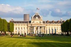 Στρατιωτικό σχολείο του Παρισιού σε μια ηλιόλουστη ημέρα Στοκ Φωτογραφία
