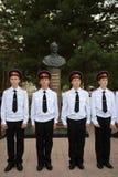 Στρατιωτικό σχολείο του Novocherkassk Suvorov μαθητών στρατιωτικής σχολής Στοκ Εικόνες
