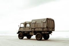 Στρατιωτικό φορτηγό Στοκ Φωτογραφία