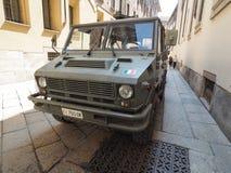 στρατιωτικό όχημα στο Μιλάνο Στοκ εικόνες με δικαίωμα ελεύθερης χρήσης