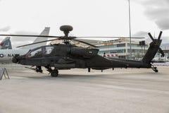 Στρατιωτικό AH64 επιθετικό ελικόπτερο Apache Στοκ Φωτογραφία