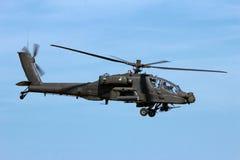 Στρατιωτικό AH64 επιθετικό ελικόπτερο Apache Στοκ Φωτογραφίες