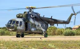 Στρατιωτικό Mil mi-171 ελικόπτερο Στοκ εικόνες με δικαίωμα ελεύθερης χρήσης