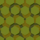 Στρατιωτικό polygonal άνευ ραφής σχέδιο Αφηρημένο hexagon textu στρατού απεικόνιση αποθεμάτων
