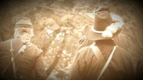 Στρατιώτες ένωσης εμφύλιου πολέμου που διοργανώνουν μια συνεδρίαση (έκδοση μήκους σε πόδηα αρχείων) απόθεμα βίντεο