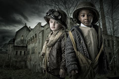 Στρατιώτες αγοριών Στοκ Φωτογραφίες