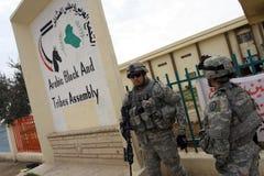 στρατιώτες ΗΠΑ του Ιράκ σ&ta Στοκ φωτογραφία με δικαίωμα ελεύθερης χρήσης