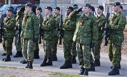 Στρατιώτες Καναδών Στοκ φωτογραφίες με δικαίωμα ελεύθερης χρήσης