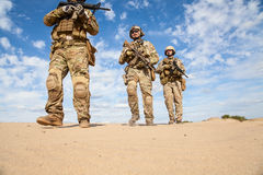 Στρατιώτες ομάδας ειδικών δυνάμεων αμερικάνικου στρατού Στοκ εικόνα με δικαίωμα ελεύθερης χρήσης