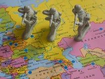 Στρατιώτες παιχνιδιών Στοκ Φωτογραφίες