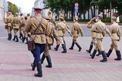στρατιώτες σοβιετικοί Στοκ φωτογραφία με δικαίωμα ελεύθερης χρήσης