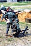 Στρατιώτες στα κράνη Στοκ φωτογραφία με δικαίωμα ελεύθερης χρήσης