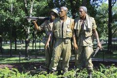 στρατιώτες τρία μνημείων Στοκ Εικόνες