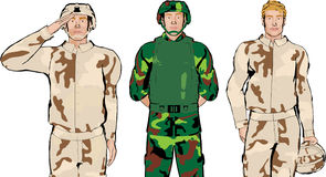 στρατιώτης απεικόνισης Στοκ Εικόνες