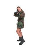 Στρατιώτης γυναικών Στοκ εικόνα με δικαίωμα ελεύθερης χρήσης