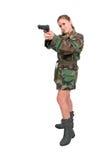 Στρατιώτης γυναικών Στοκ Εικόνες