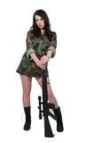 Στρατιώτης γυναικών Στοκ Εικόνα