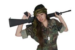 Στρατιώτης γυναικών Στοκ φωτογραφίες με δικαίωμα ελεύθερης χρήσης
