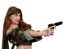Στρατιώτης γυναικών Στοκ φωτογραφία με δικαίωμα ελεύθερης χρήσης