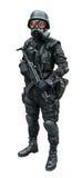 Στρατιώτης ειδικής δύναμης που στέκεται στην απομόνωση το υπόβαθρο Στοκ φωτογραφία με δικαίωμα ελεύθερης χρήσης