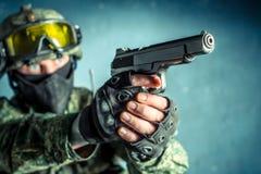 Στρατιώτης ειδικής δύναμης Στοκ Φωτογραφίες