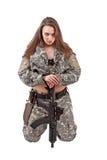 στρατιώτης κοριτσιών Στοκ Εικόνα