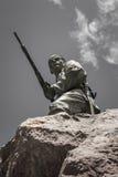 στρατιώτης με το πυροβόλο όπλο Στοκ Εικόνες