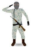 Στρατιώτης με το τουφέκι. Ελεύθερη απεικόνιση δικαιώματος