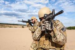Στρατιώτης ομάδας ειδικών δυνάμεων αμερικάνικου στρατού Στοκ Φωτογραφίες