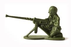 Στρατιώτης παιχνιδιών, που απομονώνεται στο άσπρο υπόβαθρο Στοκ Εικόνα