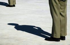 στρατιώτης προσοχής που στέκεται Στοκ εικόνα με δικαίωμα ελεύθερης χρήσης