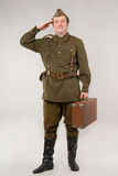 στρατιώτης σοβιετικός Στοκ Εικόνα