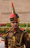 Στρατιώτης στην παρέλαση ομοιόμορφη στην πύλη της Ινδίας, Δελχί Στοκ εικόνα με δικαίωμα ελεύθερης χρήσης