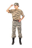 Στρατιώτης στη στρατιωτική στολή Στοκ Εικόνες