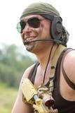 Στρατιώτης στο χαμόγελο γυαλιών ηλίου Στοκ εικόνα με δικαίωμα ελεύθερης χρήσης