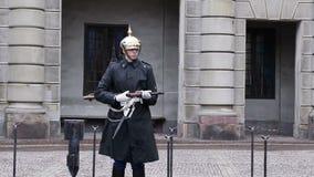 Στρατιώτης της βασιλικής φρουράς απόθεμα βίντεο
