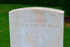 Στρατιώτης του μεγάλου νεκροταφείου σπιτιών του πολεμικού Μπέντφορντ Στοκ εικόνες με δικαίωμα ελεύθερης χρήσης
