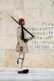 Στρατιώτης Evzone με το τουφέκι Στοκ φωτογραφία με δικαίωμα ελεύθερης χρήσης