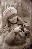 στρατιώτης wwii κοριτσιών Στοκ φωτογραφίες με δικαίωμα ελεύθερης χρήσης