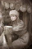 στρατιώτης wwii κοριτσιών Στοκ Εικόνες