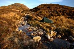Στρατοπέδευση στα βουνά Bluestack Donegal Ιρλανδία Στοκ Εικόνες