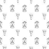 Στρατοπέδευση - doodles συλλογή Συρμένο χέρι άνευ ραφής σχέδιο στρατοπέδευσης Στοκ Εικόνες